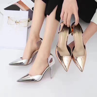 Wholesale In one of the most popular style of high quality paint material leather high heels chief designer design of high heels for ladies