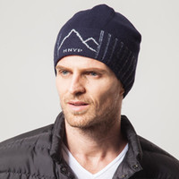 Wholesale Men s wool hat han edition knitted cap in the fall and winter outdoor sports ski cap double thickening sets warm hat