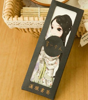 Wholesale Ancient Chinese wind classic blue and white porcelain and landscape ink and Peking Opera fine art bookmarks
