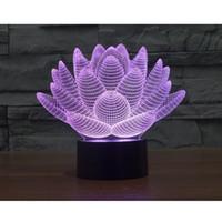 Wholesale Carola D LED Table Light Touch Lotus Colors Lights New Strange Night Light LED Illusion Lights