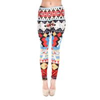 aztec leggings - Lady Leggings Aztec Bird D Graphic Print Skinny Stretchy Pants Yoga Soft Trousers J31163