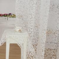 Европейский стиль жаккардовый дизайн домашнее украшение современные занавес тюль ткани органза прозрачные панели окно прозрачные шторы