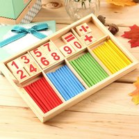 Wholesale Wooden Counting Sticks Mathematics Material Early Learning Toy Kids Math Manipulatives Preschool Educational Toys