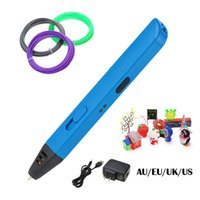Wholesale 3D Magic Printer Pen Drawing D Pen with PLA Filaments D Printing Pens Crafting Modeling Non toxic Art Printer