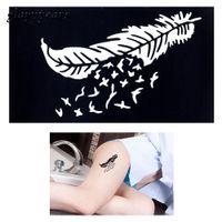 Wholesale Piece Body Paint Henna Tattoo Stencil Feather Drawing Design Beauty Women Feet Hand Art Henna Template Tattoo Sticker Gift G86