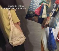 Wholesale Multifuction Foldable Net Mesh Shopping Bag Eco Reusable Shopping Tote Bags Quality Shopping Bag Storage Pouch PPA732