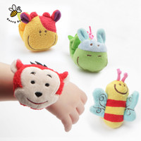 Wholesale 1Pc Animal Baby Toys Months Plush Baby Rattles Baby Toy Wrist Strap Children Infant Newborn Plush Toy
