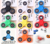 Wholesale Hand Spinners Fidget Spinner Top Quality Triangle Single Finger Spinning Top Colorful Decompression Fingers Tip Tops Toys cj