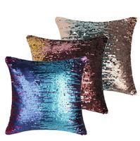 Wholesale 40X40cm sequin Cushion Cover Mermaid Sequin Throw Pillow case Cover Fashion Home Sofa Car Decorative Pillow Covers