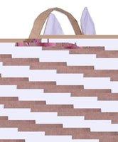 Wholesale Hot Sale New Design Easter Burlap Bunny Basket easter bucket easter basket
