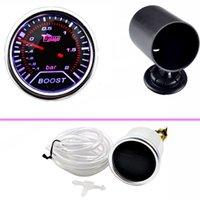 Wholesale E support Car Universal Smoke Len quot mm Bar Turbo Boost Bar Gauge Meter mm Black Pod XY01