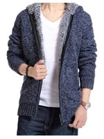 Wholesale Winter Men s High quliaty Cardigan Hooded Cotton New Autumn and Winter Slim Trend Casual Sweaters Size M XXL