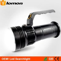 Wholesale CREE XPE High Power Modes Rechargeable Outdoor Emergency Marine LED Searchlight Flashlight Search Light Camping Torch Hiking Lantern