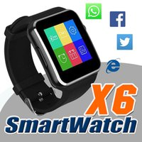 age curve - Curved Screen X6 Smartwatch Smart Watch Bracelet Phone With SIM TF Card Slot With Camera For Samsung LG Sony All Android Mobile Phone DHL