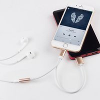 Earphone Adapter For Apple  For iPhone 7 7 plus Headphone Adapter 2 in 1 3.5 mm for iphone cable Earphone Charger Jack converter