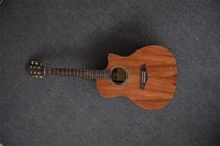 Wholesale Hot sale string electric and acoustic guitar KOA top solid with EQ high quality