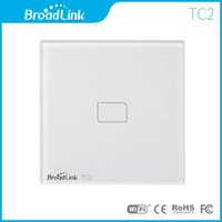 Wholesale Broadlink TC2 EU Standard Gang mobile Wireless Remote Control Light Switch Touch Screen by broadlink rm2 Smart Home Automation