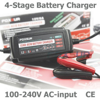 AC 100-240V automatic battery maintainer - 12V A Automatic Smart Battery Charger Maintainer Desulfator for Lead Acid Batteries Car Battery Charger V AC input