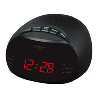 Wholesale Mini LED Digital Radio Timer Alarm Clock With Backlight Built In Speaker Two Groups Alarm Clock AM FM Table Desk Clock Radio