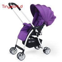 baby seat airplane - Fashion Lightweight Baby Stroller Baby Carriages Two way Pocket Cart Umbrella Car Take to Airplane One Hand Folding