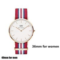 Wholesale DW TOP Brand New Fashion OL Lady Business Casual SOXY CAGARNY Brand Watches Men Women Nylon Waterproof Quartz Watch Big Dial Clock Shipping