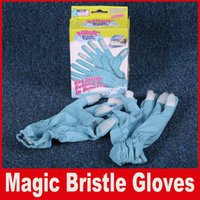Wholesale Magic Bristle Gloves Housework Cleaning Brush Glove Get Inside Behind In Between s of Durable Bristies