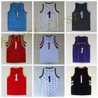 Wholesale Fashion Basketball Sport Jerseys Men Throwback Shirt Basket ball Classical Purple Red White Blue Black With Player Name Team Logo