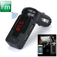 Wholesale Hot Dual USB Car Kit Charger Wireless Bluetooth Stereo MP3 Player FM Transmitter