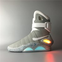 Wholesale Air Mag Men Limited Edition Back To The Future McFly Top Quality Marty boots Basketball Shoes With LED Lights With Original Box
