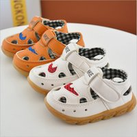 Boy Gladiator PU 2017 spring new brown white baby sandals leather toddler summer hole shoes boys wholesalers soft tpr sole breathable 0-3