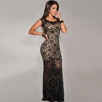 Wholesale Maxi Dresses The New Lace Package Buttocks Connect Dress Skirt Sexy Dress Long Skirt European Fashion Mini Party Dresses
