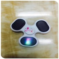 Bluetooth Music Spinner inalámbrico Fidget Spinner Descompresión Juguete Led Flash Light EDC Fidget Juguetes Tri Manos Spinner Sonido Girando Para