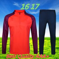 best outdoor pants - 16 Best Chinese Quality Adult Man Outdoor Jogging Sportswear T shirts orange armbands and a half high collar zip pants blue sportswear