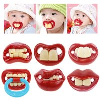 baby pranks - Top Silicone Funny Nipple Dummy Baby Soother Joke Prank Toddler Pacy Orthodontic Nipples Teether Cute Baby Pacifier Care V49
