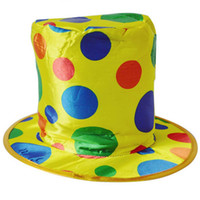 Wholesale Women Men Polka Dot Clown Top Hat for Circus Magician Fancy Dress Party Christmas