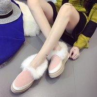 Wholesale Women s rubber flat heel shoes short cotton fur boots snow boots new Europe and the United States style