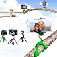 Wholesale Portable Flexible Holder Mini Tripod Mount for iPhone GoPro hero xiaomi yi Sj4000 SJCAM SJ5000 HDR As200V HX1000