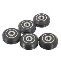 Wholesale Double V Type Plastic Passive Round Wheel with Bearing Idler Pulley Gear for D Printer Pack of