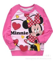 Wholesale baby girls clothes new spring long sleeve minnie dirls sweaters child fashion outerwear Sweatshirts kids coat kids clothes jacket