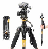 Wholesale QZSD Q666 Professional Photography Magnesium Aluminium Travel Tripod for Canon Nikon SLR Camera Monopod Tripod Ball Head