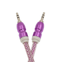 Aux big head phones - Audio Auxiliary Cable M FT Colorful Big Metal Head Wide Aux Line Male to Male Line for Phone Speaker
