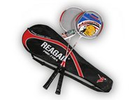 Wholesale 2 Player Ultra Light Aluminum Alloy Training Badminton Racket Racquet Set With Storage Bag For Badminton Lovers Beginner