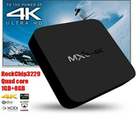 Wholesale Hot sale Smart RK3229 MXQ k TV Box Android Fully Loaded K tps P HD Streaming Media Player TV Boxes DHL free