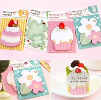 Wholesale 12pcs Cute Cake Memo Pad Notes Writing Marker Post It Stationery Sticker Kawaii Rilakkuma Planner Stickers Paper Book