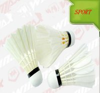 Wholesale International Goose Feather Composite Racquet Sports durable Leisure Sports Badminton Shuttlecock tube Free Shjpping