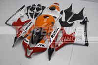 Wholesale New ABS Plastic Full Fairing Kits Fit Guarantee For Honda CBR600RR F5 years CBR600 Bodywork set red orange nice repsol