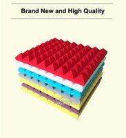 Wholesale cm X cm X cm Studio Acoustic Soundproof Foam Sound Absorption Treatment Panel Tile Wedge Protective Sponge