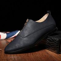 basic brand shoes - 2017 Men s Business Basic Slip On Flat Man Leather Gentle Wedding Dress Shoes Luxury Brand Formal Wearing Solid British Ocfords Shoes