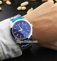 aqua terra watch - Super Clone Brand Luxury AQUA TERRA M JAMES BOND Co Axial Automatic Mens Watch Blue Dial Stainless Steel Watches