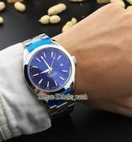 aqua bond - Super Clone Brand Luxury AQUA TERRA M JAMES BOND Co Axial Automatic Mens Watch Blue Dial Stainless Steel Watches